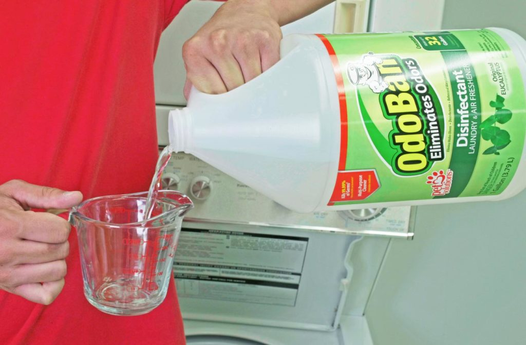 Use OdoBan in the laundry to remove mildew odors on clothes.